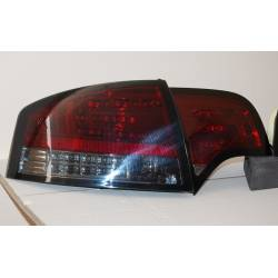Set Of Rear Tail Lights Audi A4 2005-2008 4-Door Led Red Smoked