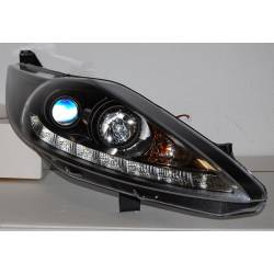 Set Of Headlamps Day Light Ford Fiesta 2009 Black