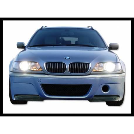 Front Bumper BMW E46 98-05, 2 Or 4-Door With Carbon Fibre Tips Look CSL
