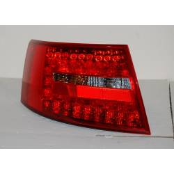 Set Of Rear Tail Lights Audi A6 2004-2007, Lexus Red/Smoked