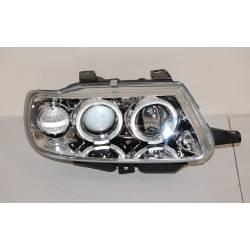 Set Of Headlamps Angel Eyes Citroen Saxo Phase I, Chromed, Model II